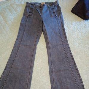 Free People slim bell bottom jeans